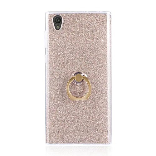 Soft Flexible TPU Back Cover Case Shockproof Schutzhülle mit Bling Glitter Sparkles und Kickstand für Sony Xperia L1 ( Color : Blue ) Gold