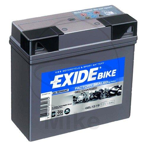 Exide batteria moto gel 519901Exide, pieno e carico