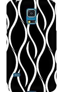 AMEZ designer printed 3d premium high quality back case cover for Samsung Galaxy S5 Mini (Curvy Pattern)