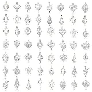 20Stück Mix Form Schmuck-Herstellung, versilberte Perle Käfig Anhänger–hinzufügen Ihre eigene Perlen, Steine, Rock, zu Käfig, Parfüm und ätherische Öle hinzufügen um ein Duft streuendem