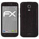 atFolix Skin kompatibel mit Wiko Darkmoon, Designfolie Sticker (FX-Wood-Dark-Wenge), Holz-Struktur/Holz-Folie