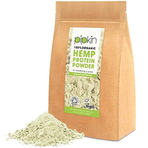 Frei Von Milchprodukten (Pipkin 100% Organic Hanf Seed Protein Powder 250g, reines nicht gentechnisch hergestelltes Hanfprotein auf pflanzlicher Basis, frei von Gluten, Laktose und Milchprodukten, reich an Omega 3 6 9)