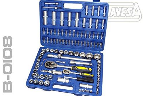 """'Werkzeug-Set clavesa B0108. 108Teile. 1/2""""+ 1/4. Qualität Standverkorker."""