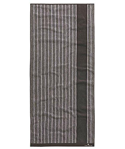 Tom Tailor Vitality telo doccia 70x 140cm, Spugna, nero, 70 x 140 cm