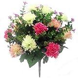 Kunstblumen-Strauß, Chrysanthemen mit spitzen Blüten, 41cm, gemischt