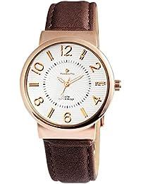 Reloj con pulsera de piel de imitación Timento