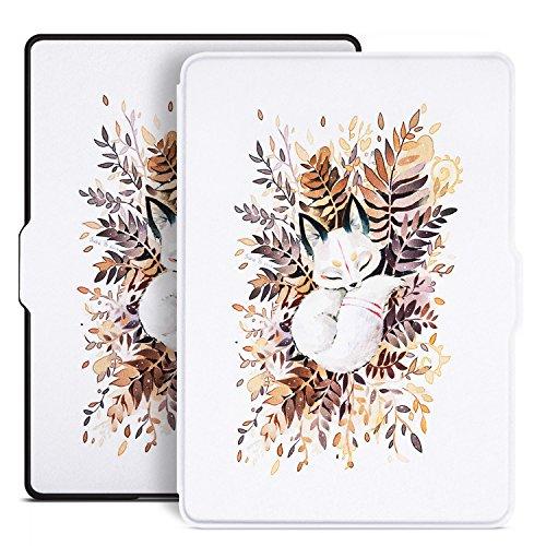 Ayotu Étui en cuir pour AmazonKindle 8ème génération (Kindle 6 pouces 8ème génération - modèle 2016) K8-09 The Sleeping Fox