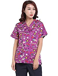 Work Wear & Uniforms Nurses Doctor Scrub Tops Short-sleeve Star Pattern Surgical Hospital Beauty Salon Operating Room Workwear Jacket Doctor Clothing Pretty And Colorful Back To Search Resultsnovelty & Special Use