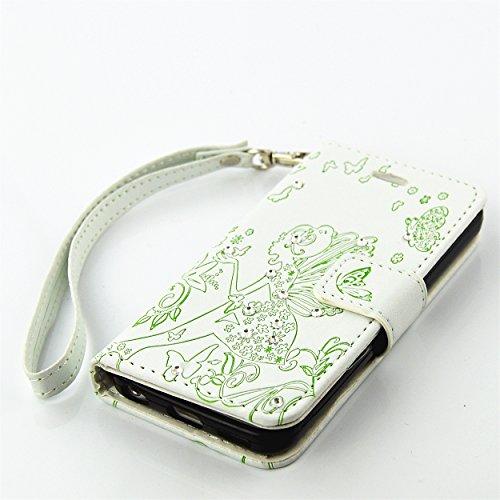 PU Silikon Schutzhülle Handyhülle Painted pc case cover hülle Handy-Fall-Haut Shell Abdeckungen für Smartphone Apple iPhone 5C +Staubstecker (1AA) 7
