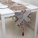 GAOYU Moderne et minimaliste de luxe de style européen Tableau Flag Fabrics Table à manger Table Flag 33 * 120Cm
