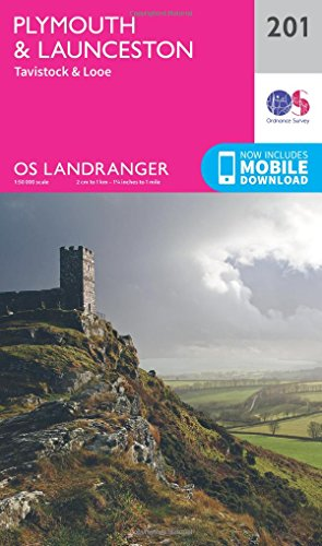 landranger-201-plymouth-launceston-tavistock-looe-os-landranger-map