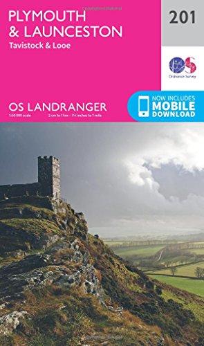 landranger-201-plymouth-launceston-tavistock-looe-os-landranger-map