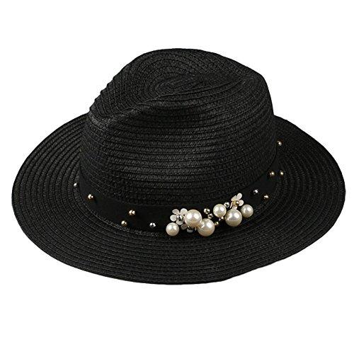 Saldi 2019 acquista per ufficiale pensieri su Gespout Cappello di Paglia Donna Eleganti Protezione UV Cappello da Sole  Tesa Larga Topper Berretto da Spiaggia All'aperto Casual Beret Cappello del  ...
