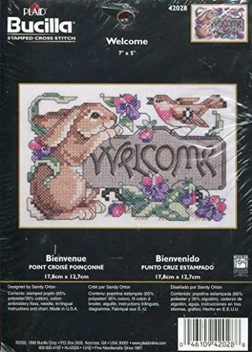 Bucilla Welcome Stamped Cross Stitch Kit by Bucilla Counted Cross Stitch -