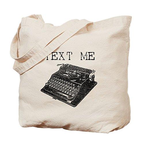 "CafePress Text-Me Vintage Schreibmaschinen-Tragetasche, Aufschrift""Text-Me"", canvas, khaki, M"