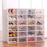 Sinbide 6 x / 12 x Cajas de Zapatos Plástico, Caja Guardar Zapatos, Calcetines, Juguetes,...