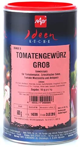 1a RAPS Gewürze 1000468-001 TOMATENGEWÜRZ Grob - Tomaten Gewürzsalz --- Dose 600g