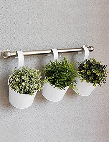 Fer à repasser Fauteuil à fleurs Fauteuil à barres de style européen Balcon Fauteuil à fleurs Hanging Guardrail Bonsai Frame 1 Set 3 Pièces