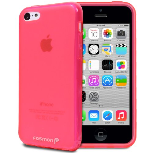 Fosmon DURA FRO-Series (TPU) Skin Protective Case Cover for Apple iPhone 5C rose