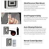 UHPPOTE Biométrico Metal Huella Digital & 125KHZ ID Independiente Máquina De Control Acceso...