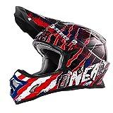 O'Neal 3Series MX Helm Mercury Blau Rot Weiß Motocross Enduro Quad Offroad Cross, 0623-46, Größe M (57/58 cm)