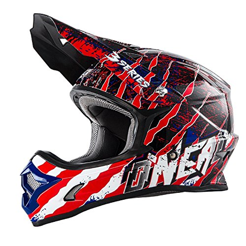 O'Neal 3Series Helmet Mercury blue red white 2017