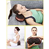 Car Electronic Massage Pillow Massager Cushion Car Lumbar Neck Back Shoulder Heat Pillow