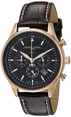 Jorg Gray JG6500-22 - Reloj cronógrafo de cuarzo para mujer con correa de piel, color marrón