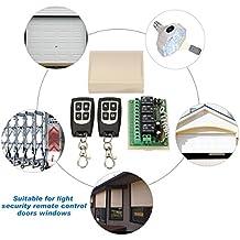 MOHOO 12V 4CH telecomando senza fili Interruttore Relè 2 Transceiver con 1 Ricevitore - Segnale Indicatore