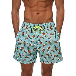 Bañador Para Hombre Pantalones Cortos Bañadores De Natación Piña M