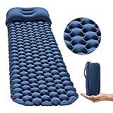 OGL Ultraleicht Aufblasend Luftmatratze mit Kissen für Camping-Blau