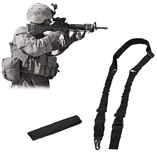 NIANPU Sangle 2 Point D'ancrage Pour Arme Tactique Sangle Élastique Multifunction Pour la Chasse Camping et Sports