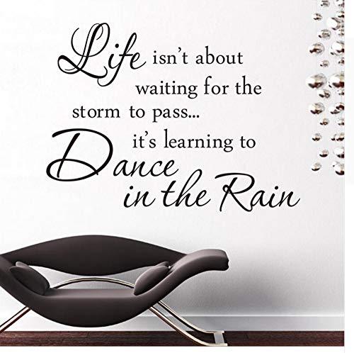 ben ist Tanz im Regen Sprüche Wohnkultur Wandaufkleber berühmte warme Wandkunst zum Abziehbild buchen Zimmer Klassenzimmer 57x42cm ()