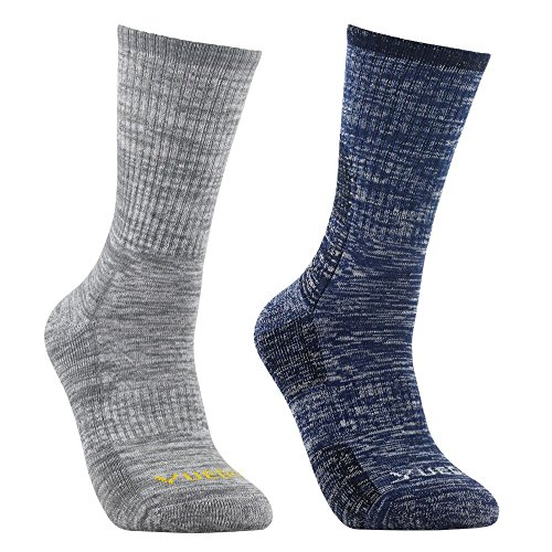 YUEDGE Men's Wicking Cushion Anti Blister Crew Socks Outdoor Multi Performance Hiking Trekking Running Walking Socks (2018 Newest Style)