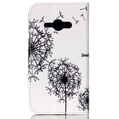 Étui en cuir pour iPhone 5/5S se, w-pigcase coloré Étui en cuir PU avec exquis design raffiné et confortable feelling pour Apple iPhone 5/5S/5C/SE, Wind chime, Samsung Galaxy J1 Ace love2