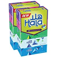 Hala Facial Tissue - Pack of 10 Boxes, 200 sheets
