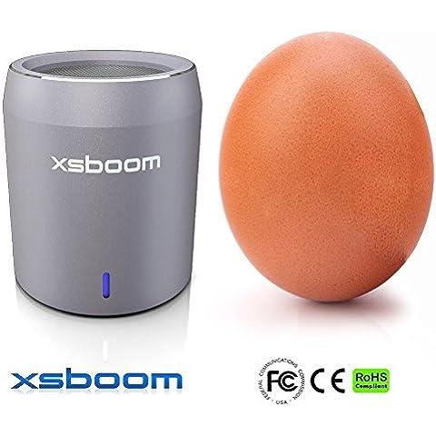 Mini Altavoz Bluetooth XSBOOM En Caja De Regalo Perfecta (Plata)