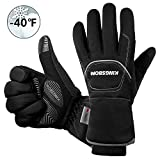 KINGSBOM Wasserdichte & Winddichte Thermo-Handschuhe – 3M Thinsulate Winter Touch Screen Warme Handschuhe – zum Radfahren, Reiten, Laufen, für Outdoor-Sport – für Frauen und Männer – Schwarz (S)