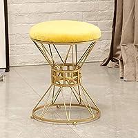 Preisvergleich für MO XIAO BEI Kleine Hocker Make-up Hocker Schlafzimmer Hocker Stuhl Ändern Schuhbank (Farbe : Gelb)