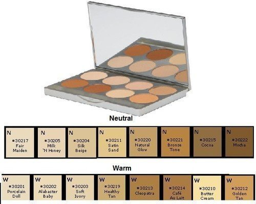 Colle à HD Pro Poudre Fond de Teint Palette, chaud par Colle à maquillage Co.