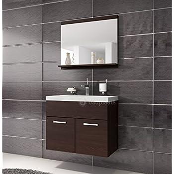 Badezimmer Badmöbel Montreal 02 60cm Waschbecken Wenge ... | {Bad unterschrank mit waschbecken 95}