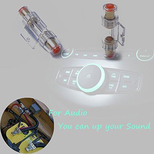 XuBa AGU - Fusibile con 5 fusibili da 60 A per installatori Au-dio per auto, cavi e amplificatori