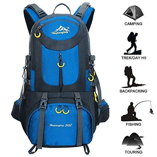 50L Mochila de senderismo Mochila al aire libre mochila de deporte al aire libre para escalada Mountaineering Camping Pesca Viajes Ciclismo Esquí