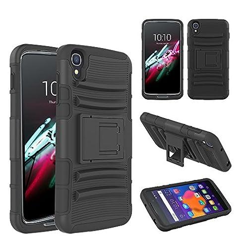 Etui ProteKtoR Alcatel Onetouch Idol 3 5.5 pouces Total noir avec stand - Housse coque de protection Silicone avec stand Nokia Alcatel Idol 3 5.5 - Prix découverte accessoires pochette XEPTIO case