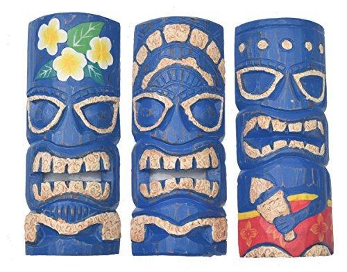 3-Tiki-Mscaras-30cm-IM-HAWAI-Estilo-Juego-de-3-Mscara-de-madera-Mscara-de-pared-MARES-DEL-SUR