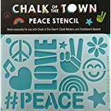 Chalk of the Town Chalk of the Town Peace Plastic Stencil for Kids
