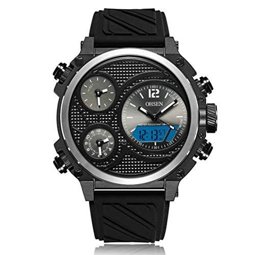 sportuhr ad1801 Casual Silicona Correa Cuarzo Reloj electronico Reloj de Hombre