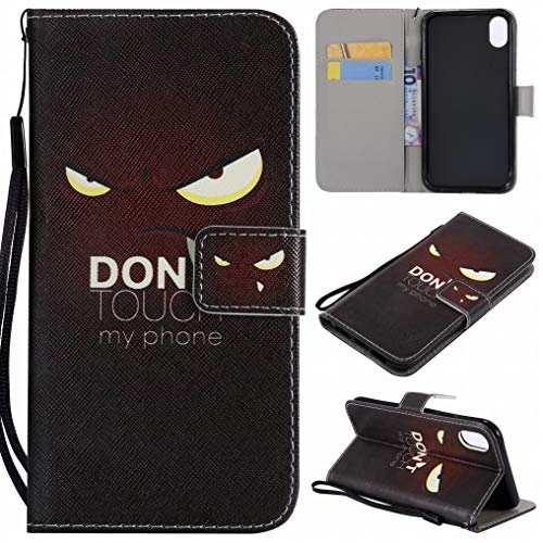Price comparison product image Ougger For Apple iPhone XR Case,  Cool Style Wallet Cover Premium PU Leather Flip Case Magnetic Bumper Pouch Holster Stand Silicone Soft TPU Shell with Credit Card Slot