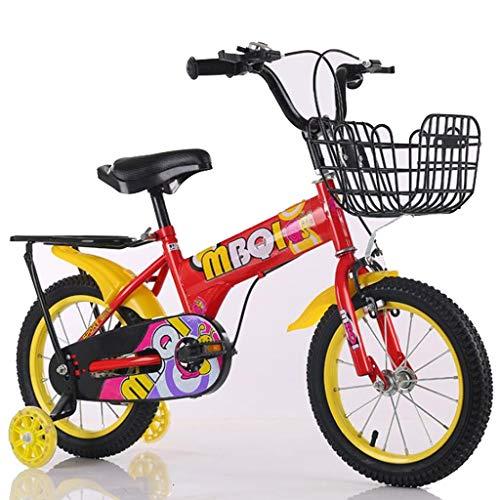 "Kinderfahrrad Kinderfahrrad, Junge/Mädchen-Kleinkind-Fahrrad 12"" 14"" 16"" 18"" Zoll Kinderfahrräder 2-10 Jahre Mit Flash Stützrad (Color : Red, Size : 18'')"