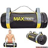 MAXSTRENGTH® 10 kg / 20 kg gefüllte Sandtasche Krafttraining Fitness Crossfit Laufen Workout Taschen, 10kg Filled